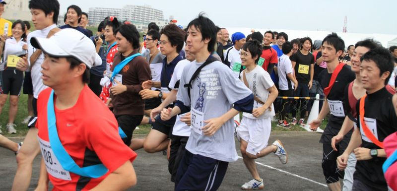 Nippon IT Charity Relay Race Runners